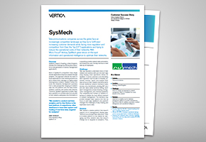 SysMech and Vertica Success Story
